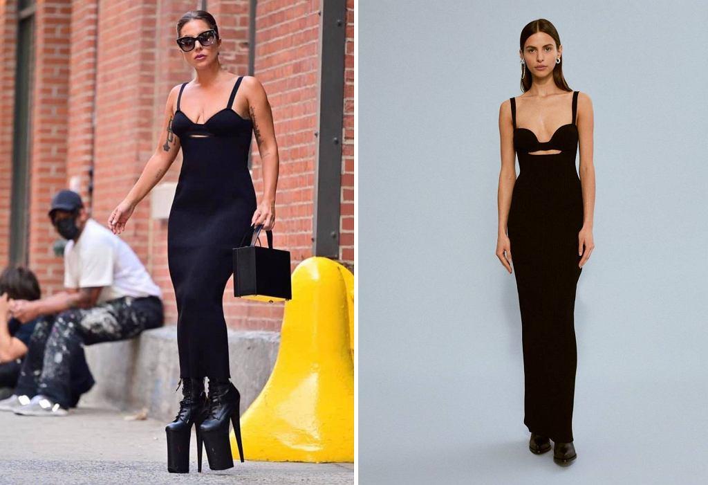 Lady Gaga / Modelka w sukience Magdy Butrym