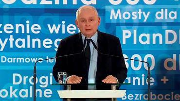 Prezes Jarosław Kaczyński podczas wyjazdowego posiedzenia klubu PIS, 7 grudnia 2018.