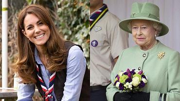Księżna Kate i Elżbieta II na ognisku z harcerzami. Za plecami królowej stała znana gwiazda! Wypatrzyli ją czujni fani