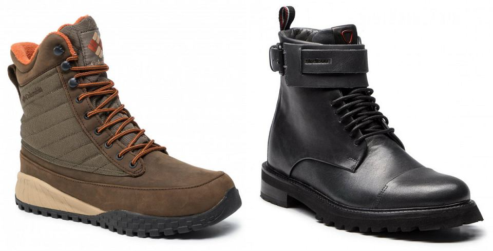 Buty zimowe męskie za kostkę