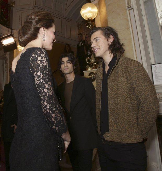 Księżna Cambridge i Harry Styles