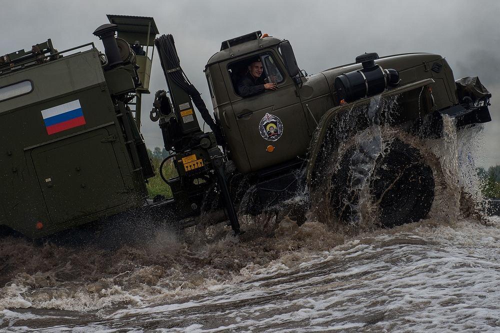 Wojska Federacji Rosyjskiej na ćwiczeniach w rejonie Omska, 9 sierpnia 2017 r.