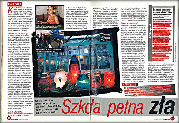 Raport na temat przemocy w szkole - historia z gimnazjum w Gdańsku