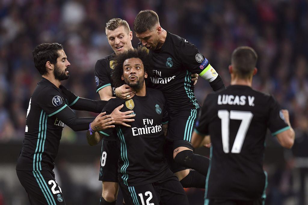 Bayern - Real Madryt. Goście świętują po golu Marcelo