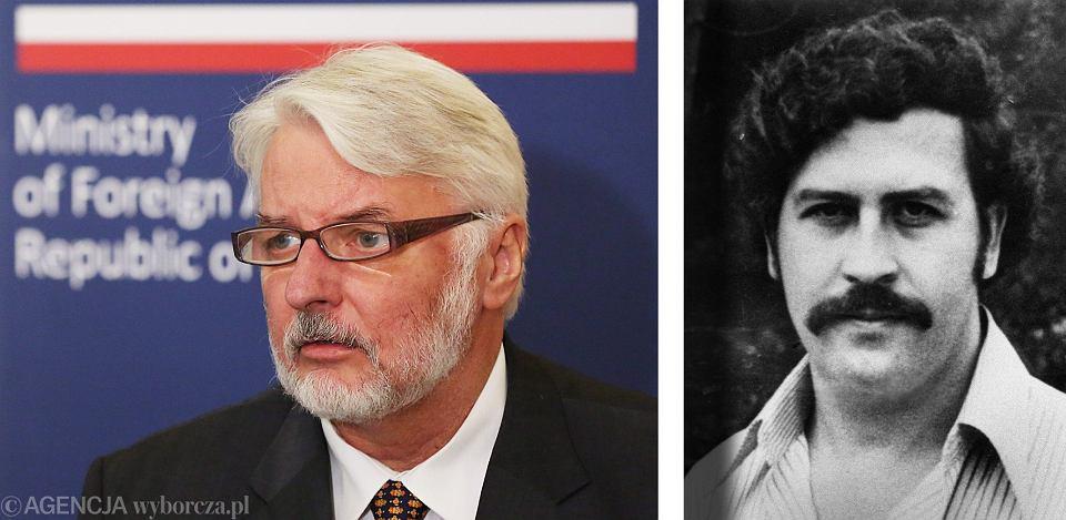 Twórca 'San Escobar' - minister spraw zagranicznych w rządzie PiS Witold Waszczykowski i... Pablo Escobar