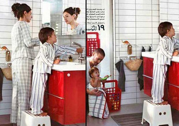 Strony z feralnego katalogu IKEA
