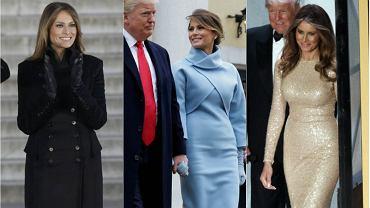 Melania Trump podczas uroczystości inauguracyjnych