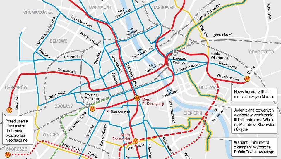Tam może wyglądać system transportowy Warszawy w 2050 r.