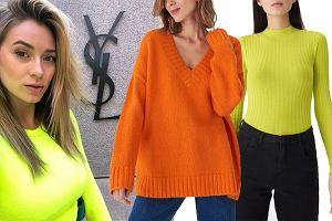 neonowe swetry / mat. partnera / www.instagram.com/marcelina_zawadzka