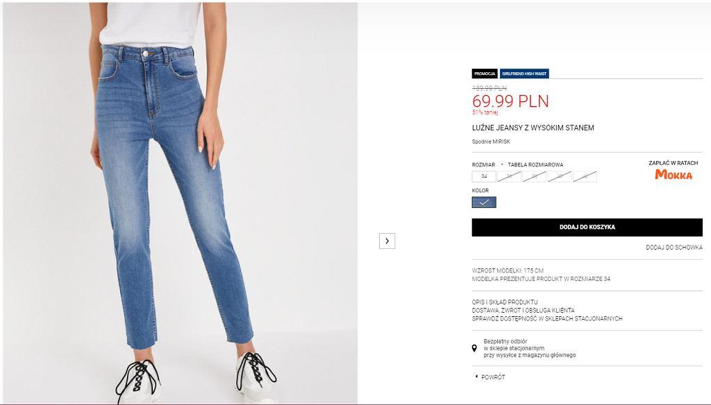 jeansy proste Diverse