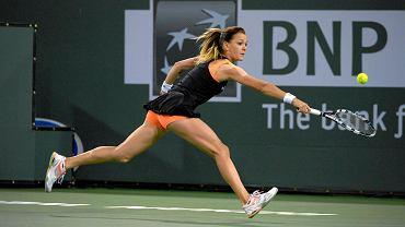 Agnieszka Radwańska podczas turnieju w Indian Wells