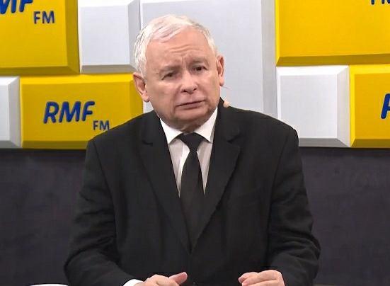 Prezes PiS Jarosław Kaczyński w RMF FM