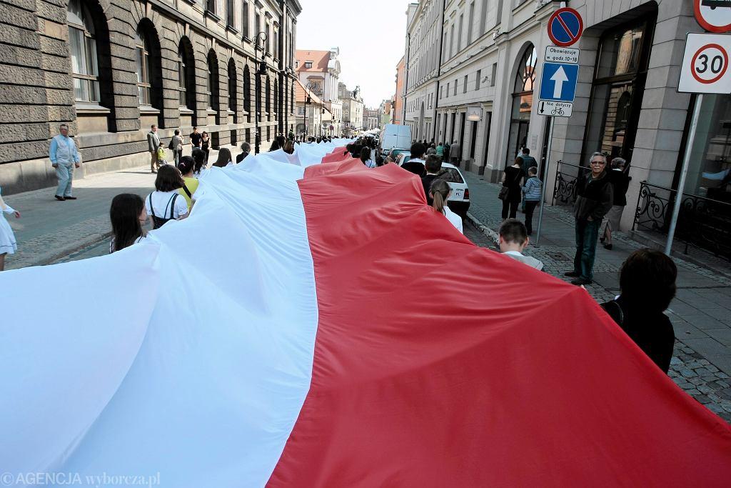 Święto Flagi Państwowej na ulicach Poznania, 2010