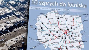 Centralny Port Komunikacyjny ma mieć sieć połączeń kolejowych