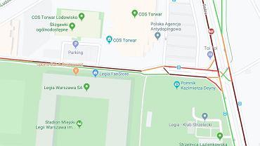Korki na ulicach Solec i Czerniakowska