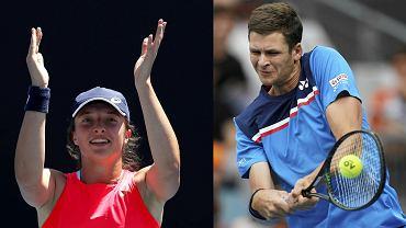 Iga Świątek i Hubert Hurkacz, Australian Open 2020
