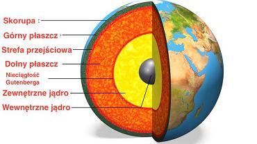 Przekrój kuli ziemskiej