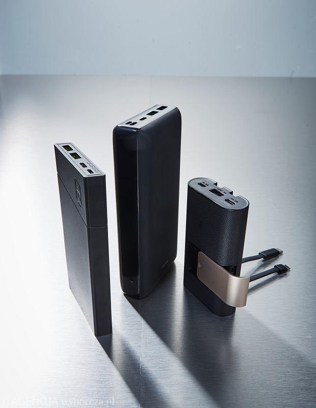 Od lewej: Greencell Powerplay10, Baseus Mini Ja, iWalk Secretary Plus
