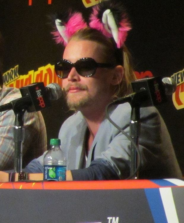 Stars attend the 'Adult Swim' and 'Oldboy' NYCC panels located at the Javits Center, also autograph signings by Macaulay Culkin, Seth Green, Jason David Frank and more in NYC.  Pictured: Macaulay Culkin