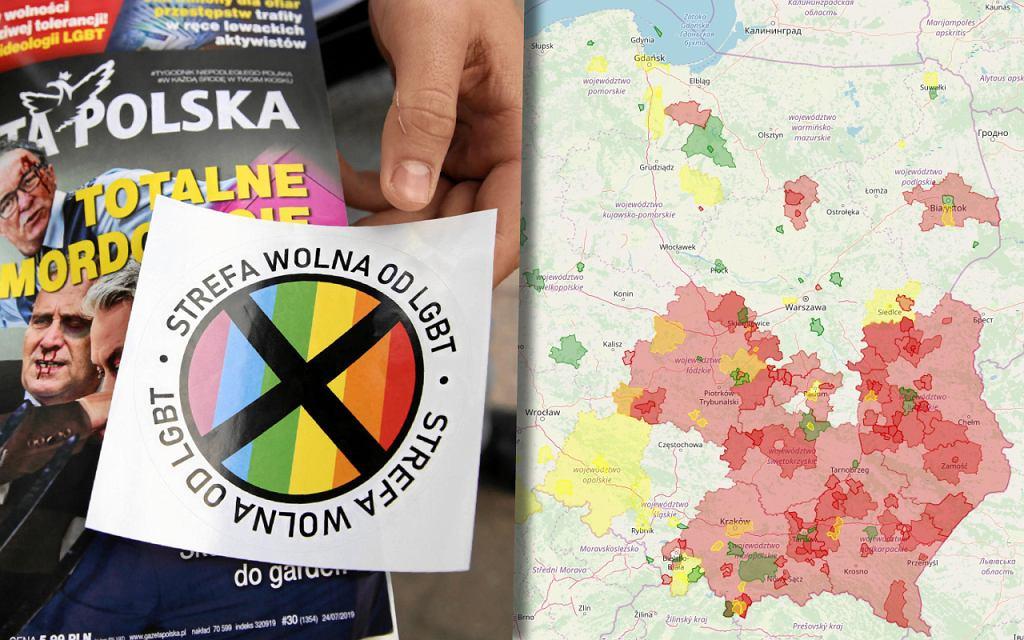 Najwięcej stanowisk anty-LGBT uchwaliły samorządy na Lubelszczyźnie i Podkarpaciu