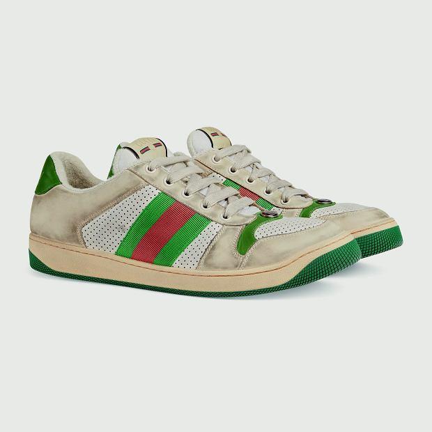 Fabrycznie zniszczone sneakersy