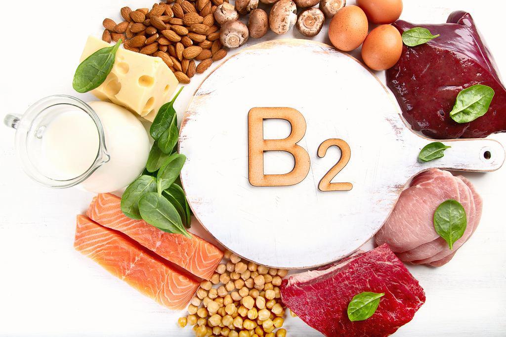 Produkty bogate w witaminę B2