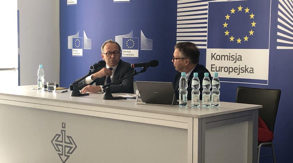 Paweł Świeboda i Maciej Zakrocki - debata z cyklu Dialog Europejski
