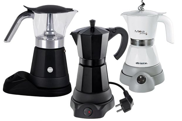 Kawiarki elektryczne różnych firm