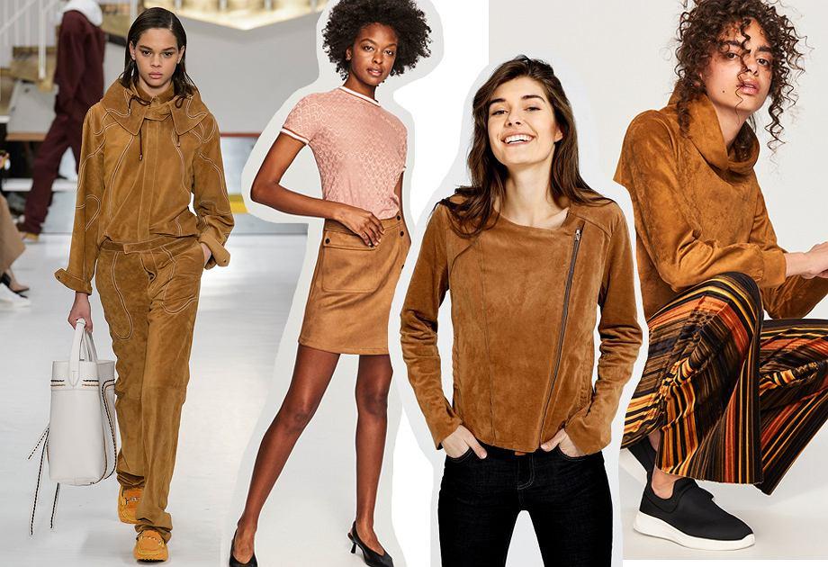 Zamsz - modny materiał na jesień 2018