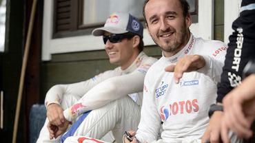 Robert Kubica i Sebastien Ogier podczas Rajdu Finlandii