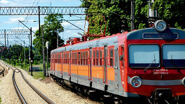 Pociąg na trasie Olsztyn - Elbląg