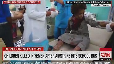 Jemen. Atak na autobus pełen dzieci