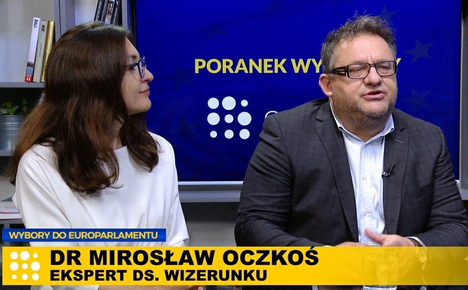 Politolożka Renata Norkiene i specjalista od wizerunku politycznego Mirosław Oczkoś w Poranku Wyborczym w Gazeta.pl