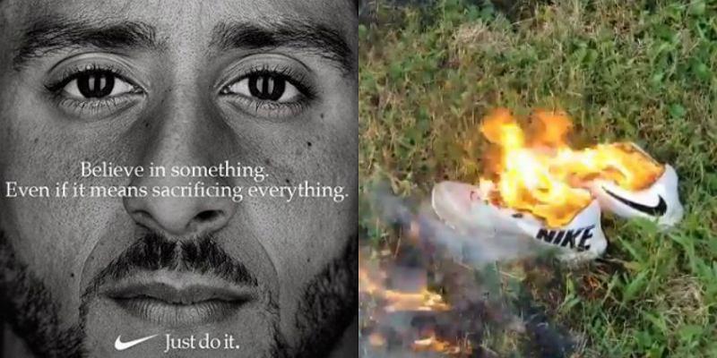 Colin Kaepernick nową twarzą Nike. Amerykanie palą buty na znak protestu