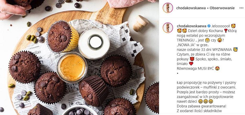 Ewa Chodakowska - przepis na muffiny