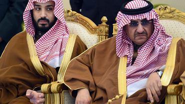 Muhammad ibn Salman (wówczas minister obrony) i książę Muhammad  ibn Naif, były następca tronu Arabii Saudyjskiej. Rijad, 9 września 2015