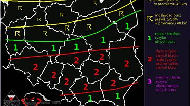 Polscy Łowcy Burz przewidują na poniedziałek gwałtowną zmianę pogody na Śląsku