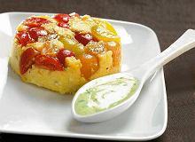 Muffinki z polenty z majonezem bazyliowym - ugotuj