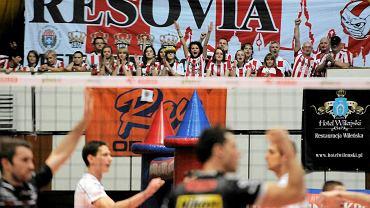 Indykpol AZS Olsztyn podczas meczu z  Resovią Rzeszów (2012 r.)