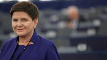 Beta Szydło w Parlamencie Europejskim.