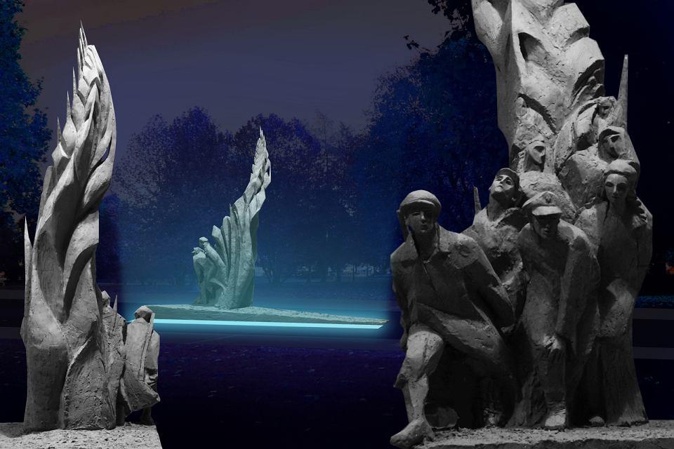 Wizualizacja pomnika Batalionów Chłopskich, który powstaje właśnie na warszawskim Czerniakowie