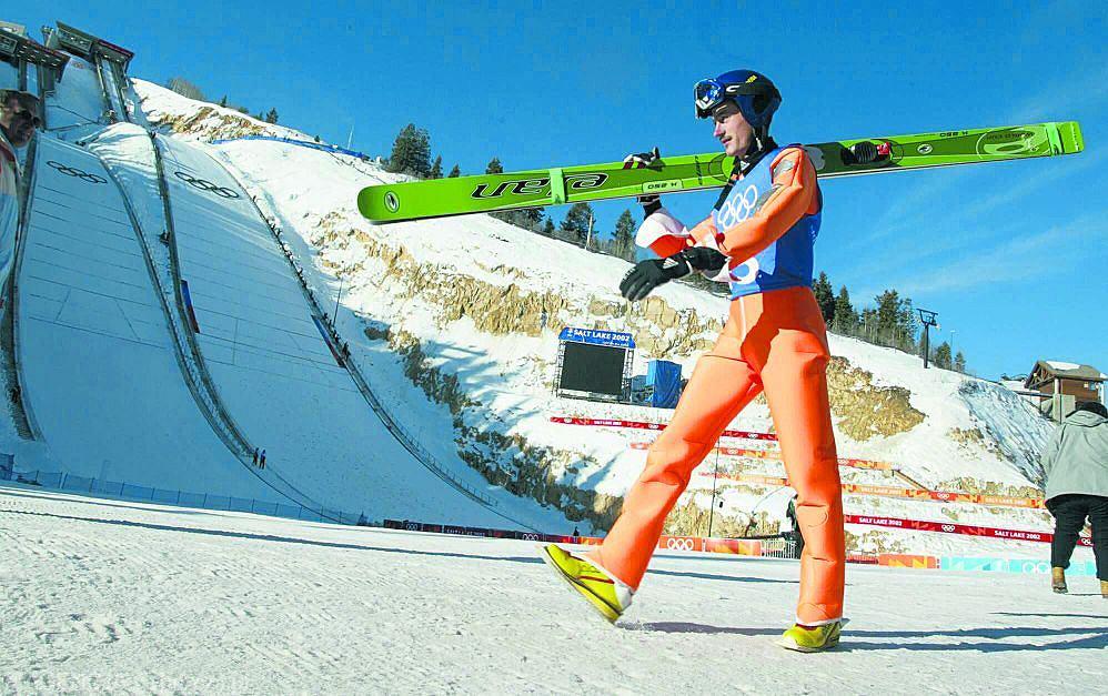 Adam Małysz podczas igrzysk olimpijskich w Salt Lake City