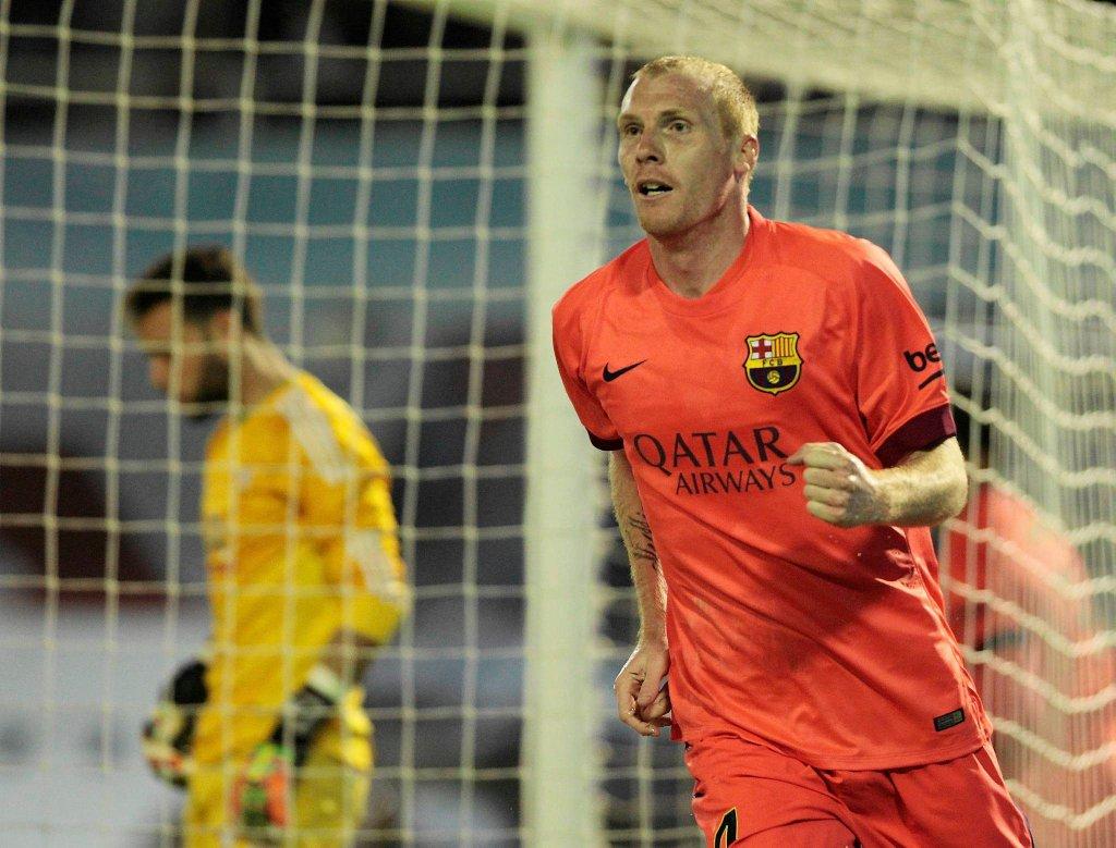 Celta Vigo - FC Barcelona 0:1. Jeremy Mathieu właśnie zdobył bramkę