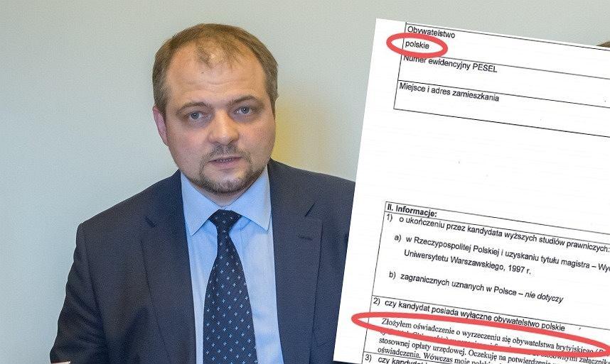 Prof. Aleksander Stępkowski i jego karta zgłoszenia do Sądu Najwyższego