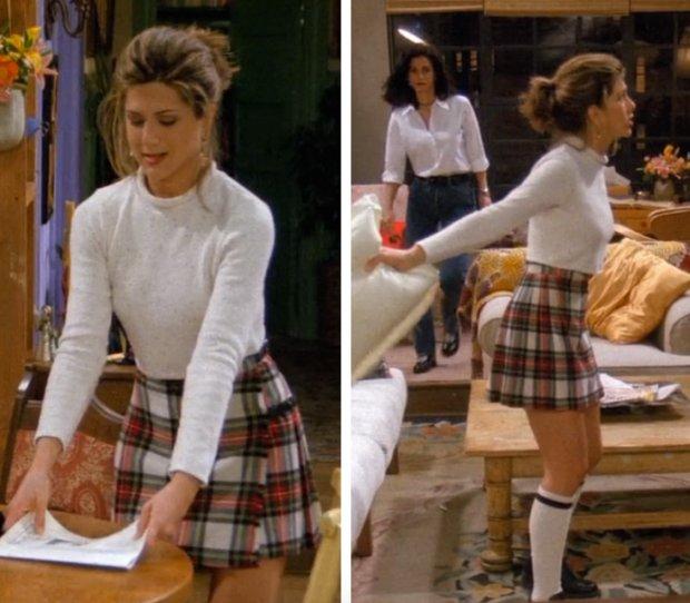 Rachel zdobyła serce Rossa strojem księżniczki Lei i podkolanówkami cheerleaderki.