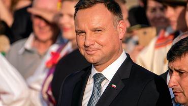 Prezydenta Andrzej Duda.