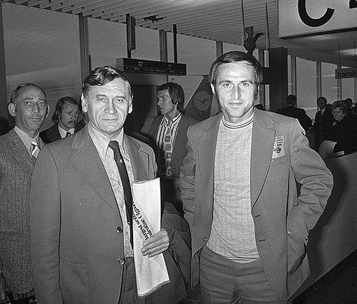 Kazimierz Górski i Jan Domarski w 1973 roku