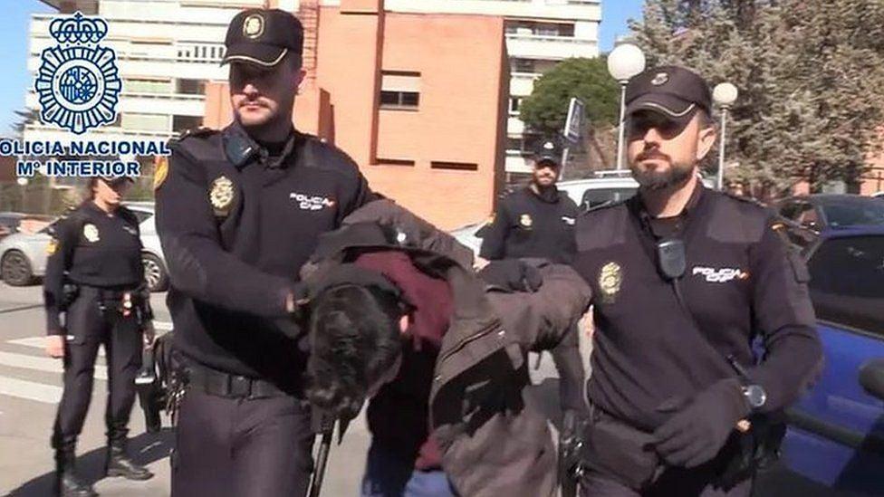 Aresztowanie Alberto Sancheza Gomeza w lutym 2019 r.