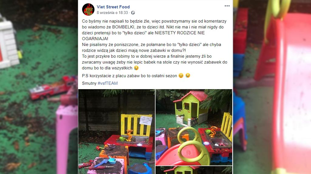Właściciele warszawskiej restauracji likwidują kącik zabaw dla dzieci.