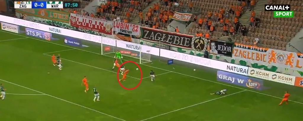 Damjan Bohar strzela zwycięskiego gola dla Zagłębia Lubin z Wartą Poznań